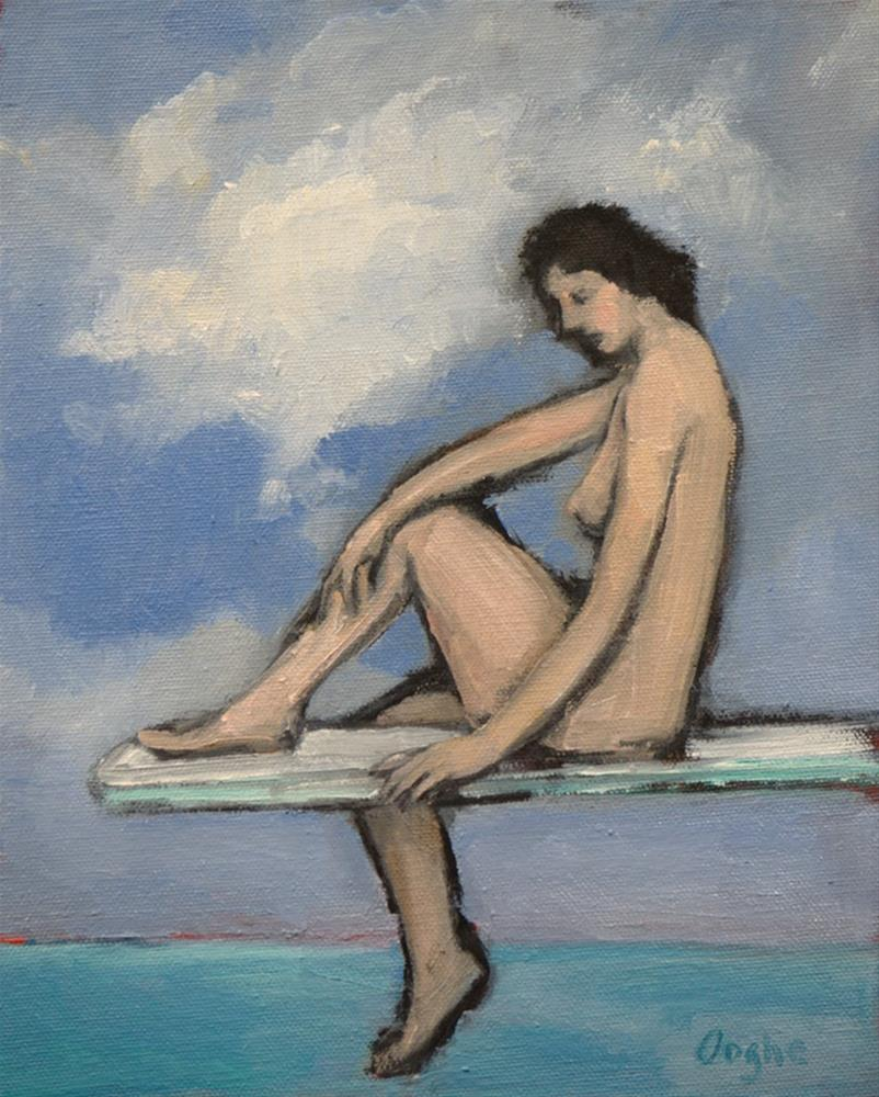 """Nude on Diving Board 2"" original fine art by Angela Ooghe"