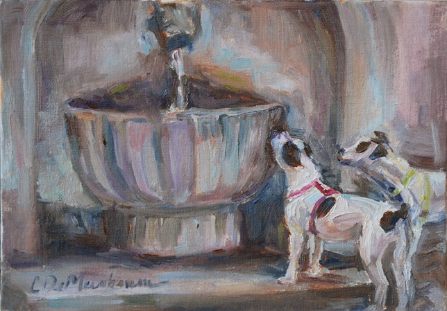 """After the Walk"" original fine art by Carol DeMumbrum"