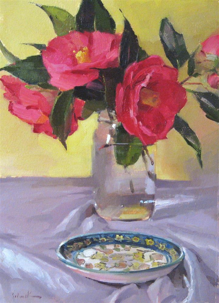 """Early Camellias"" original fine art by Sarah Sedwick"