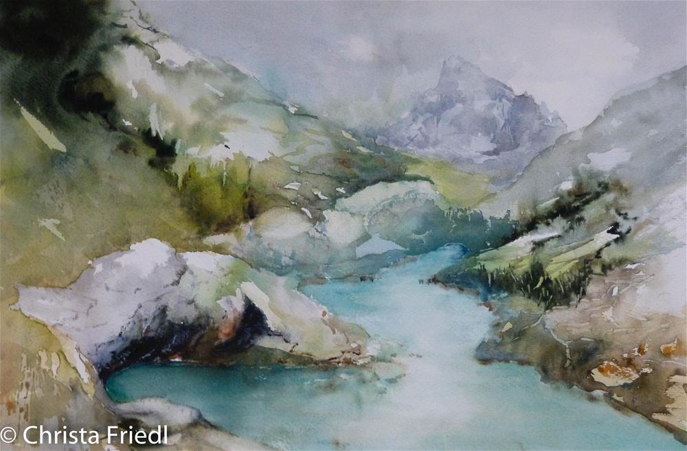 """""""Ötschergräben, Lower Austria"""" original fine art by Christa Friedl"""