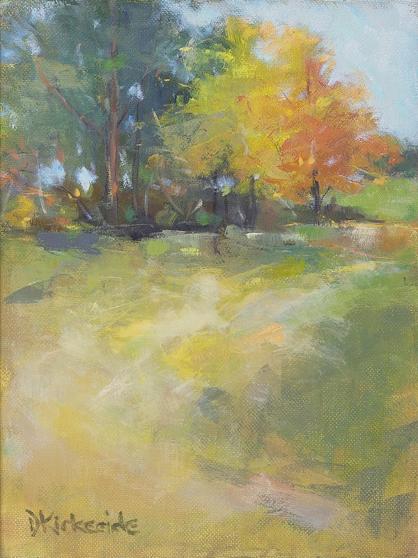 """Autumn View - Autumn Landscape by Deb Kirkeeide"" original fine art by Deb Kirkeeide"