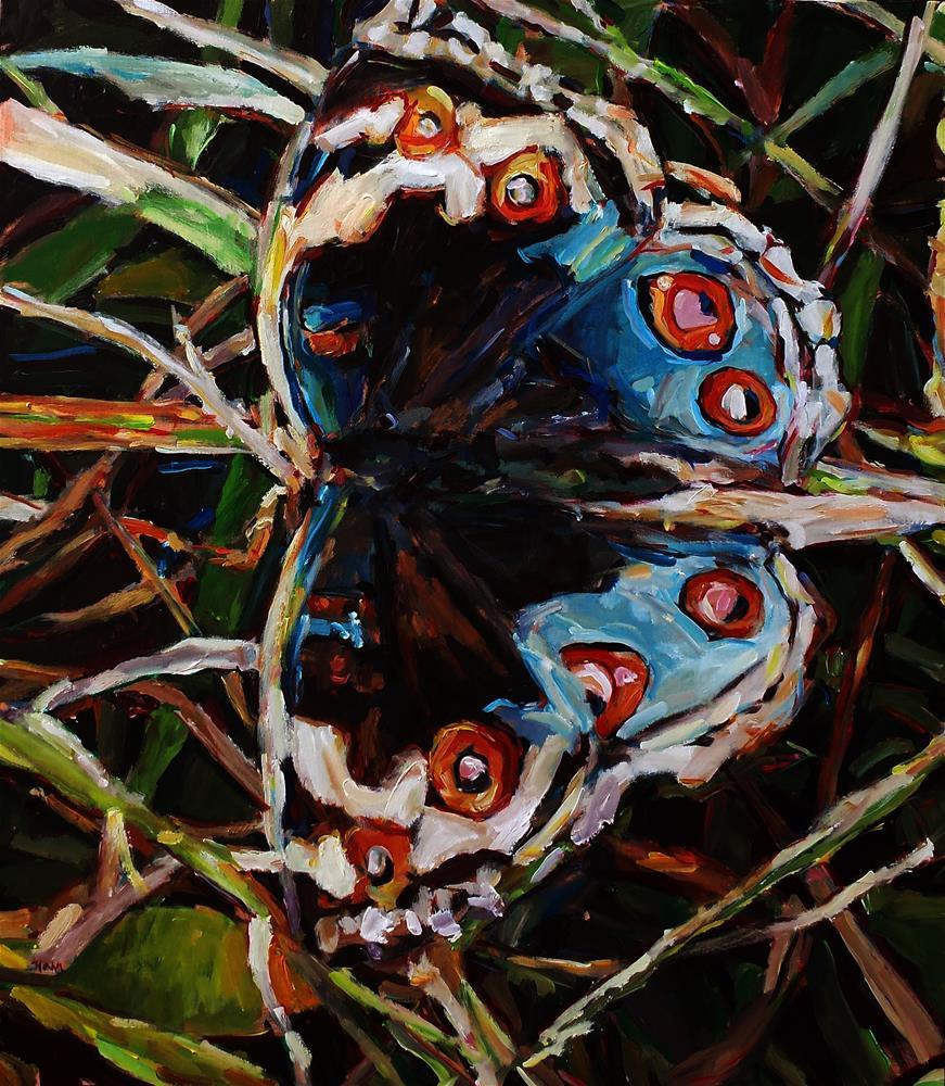 """Junonia orithya"" original fine art by Nava Judith"