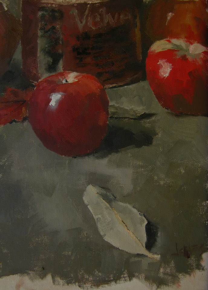 """Apples"" original fine art by Richard Jones"