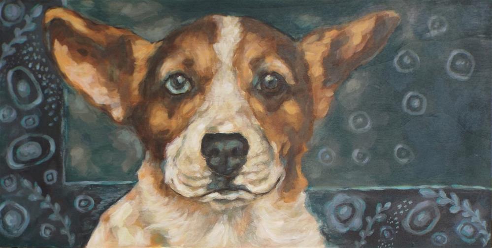 """""""Corgi"""" original fine art by Kathy Hiserman"""