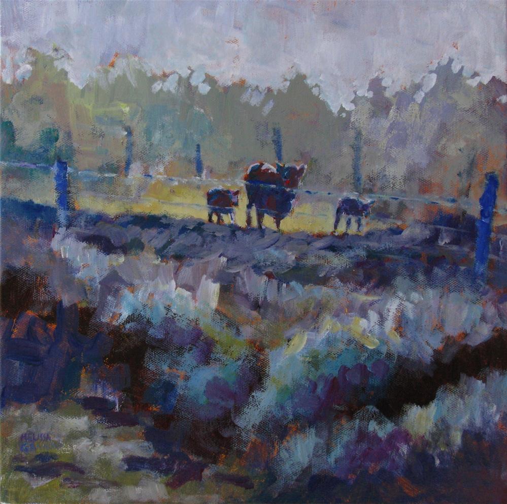 """""""When the Cows Come Home"""" original fine art by Melissa Gannon"""