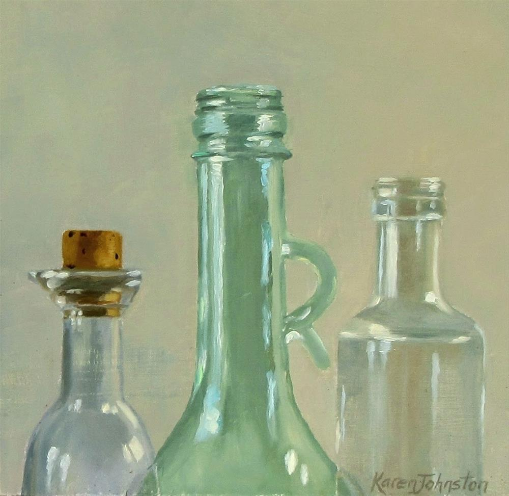 """Sauce Bottles"" original fine art by Karen Johnston"