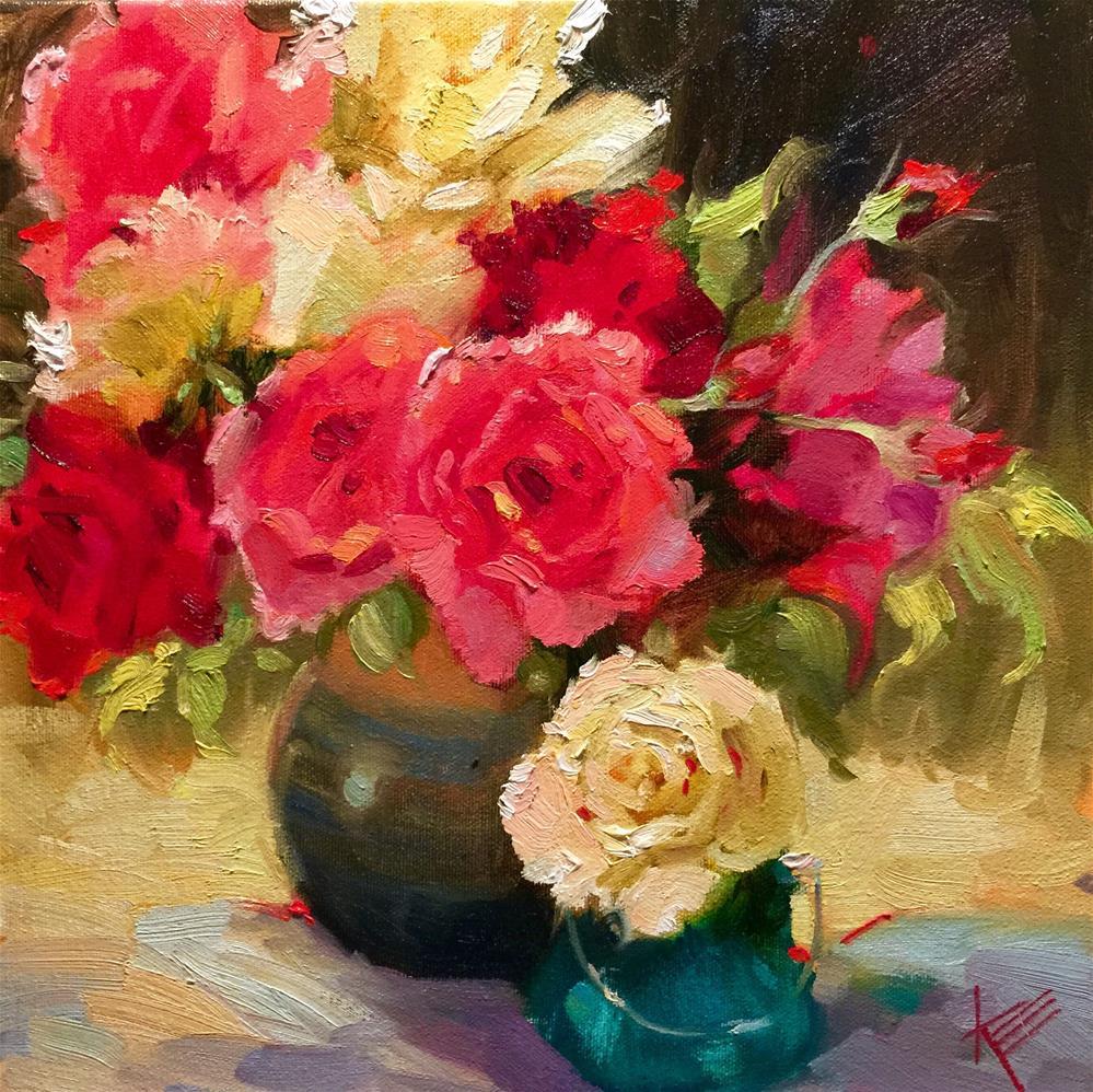 """Spring Roses"" original fine art by Krista Eaton"