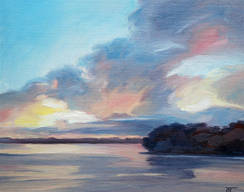 """Florida sunset"" original fine art by Olga Touboltseva-Lefort"