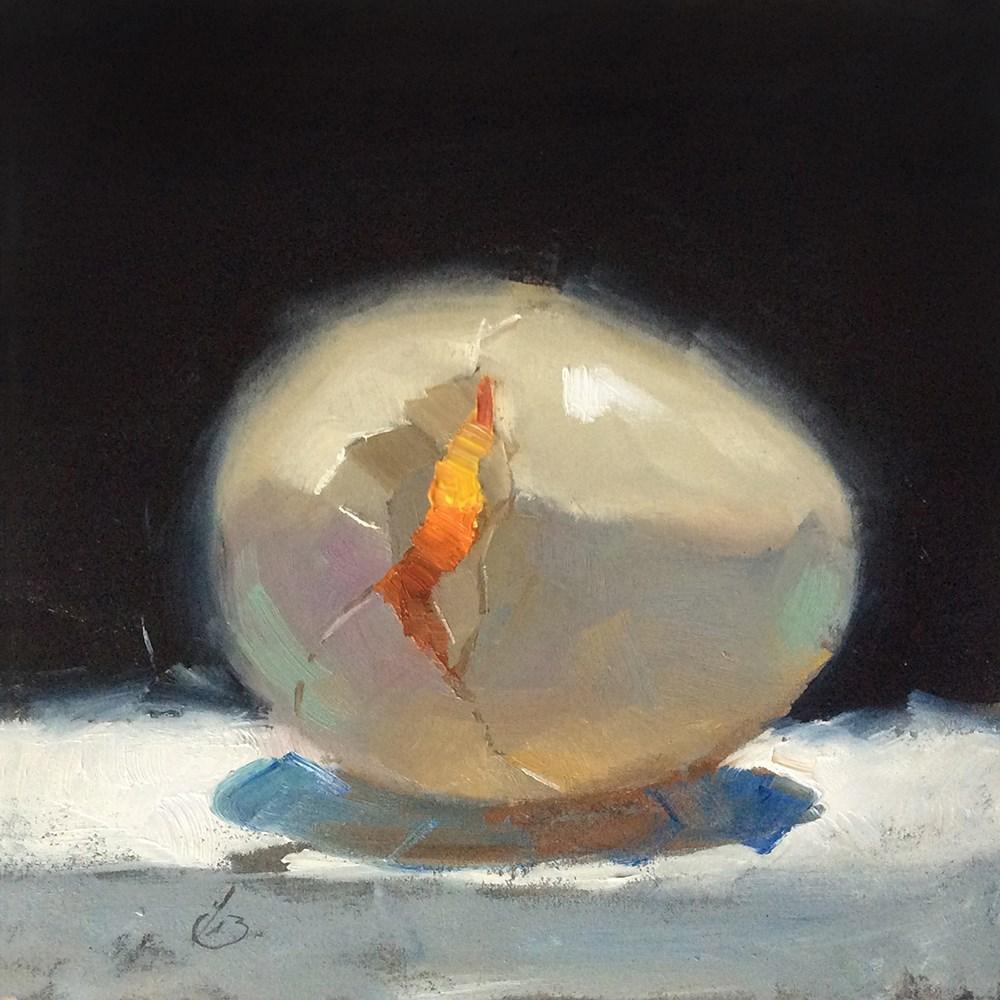 """CRACKED"" original fine art by Tom Brown"