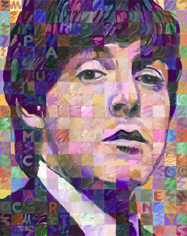 """Paul McCartney"" original fine art by Randal Huiskens"