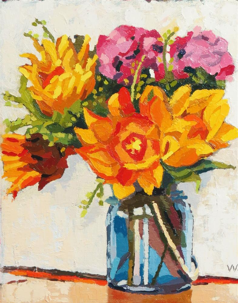 """Courtship Bouquet"" original fine art by Joan Wiberg"