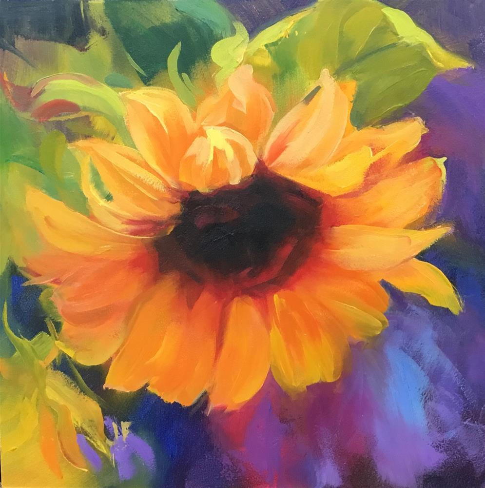 """Sunflower"" original fine art by Jean Fitzgerald"