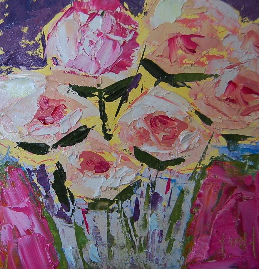 """Valentine Roses"" original fine art by Deborah Harold"