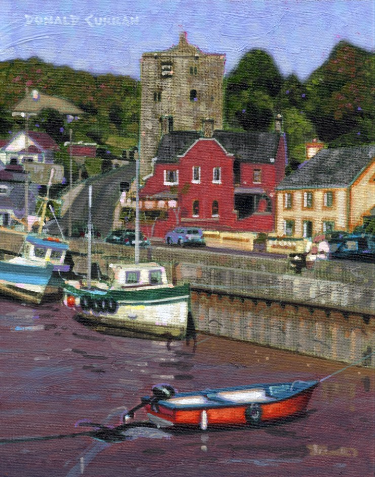 """Ballyhack, Ireland"" original fine art by Donald Curran"