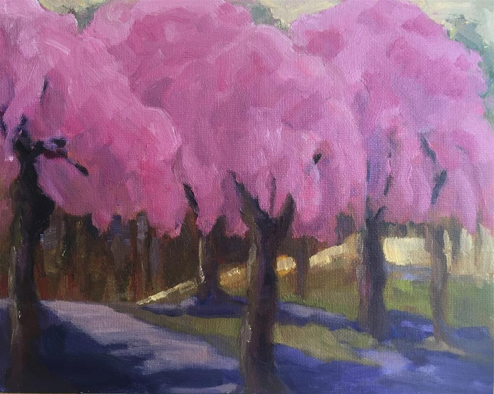 """Cotton Candy - Cherry Blossom Time"" original fine art by Ceci Lam"