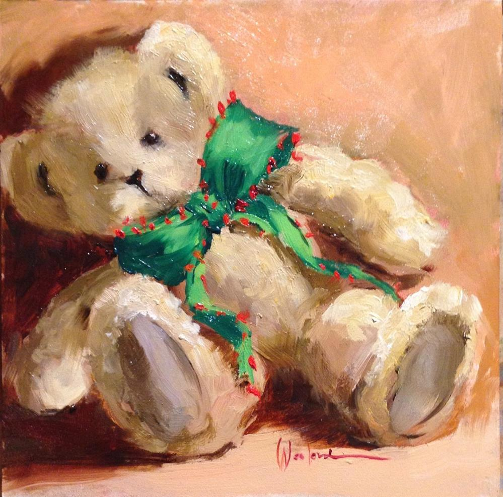 """Christmas Bear"" original fine art by Dorothy Woolbright"