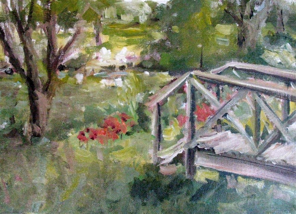 """Footbridge at Brandon Hall, Natchez, Mississippi"" original fine art by Susan Elizabeth Jones"