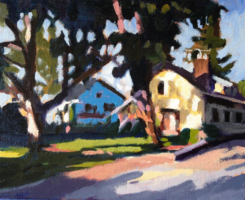 """Neighbor's House in Magic Light"" original fine art by Pamela Hoffmeister"