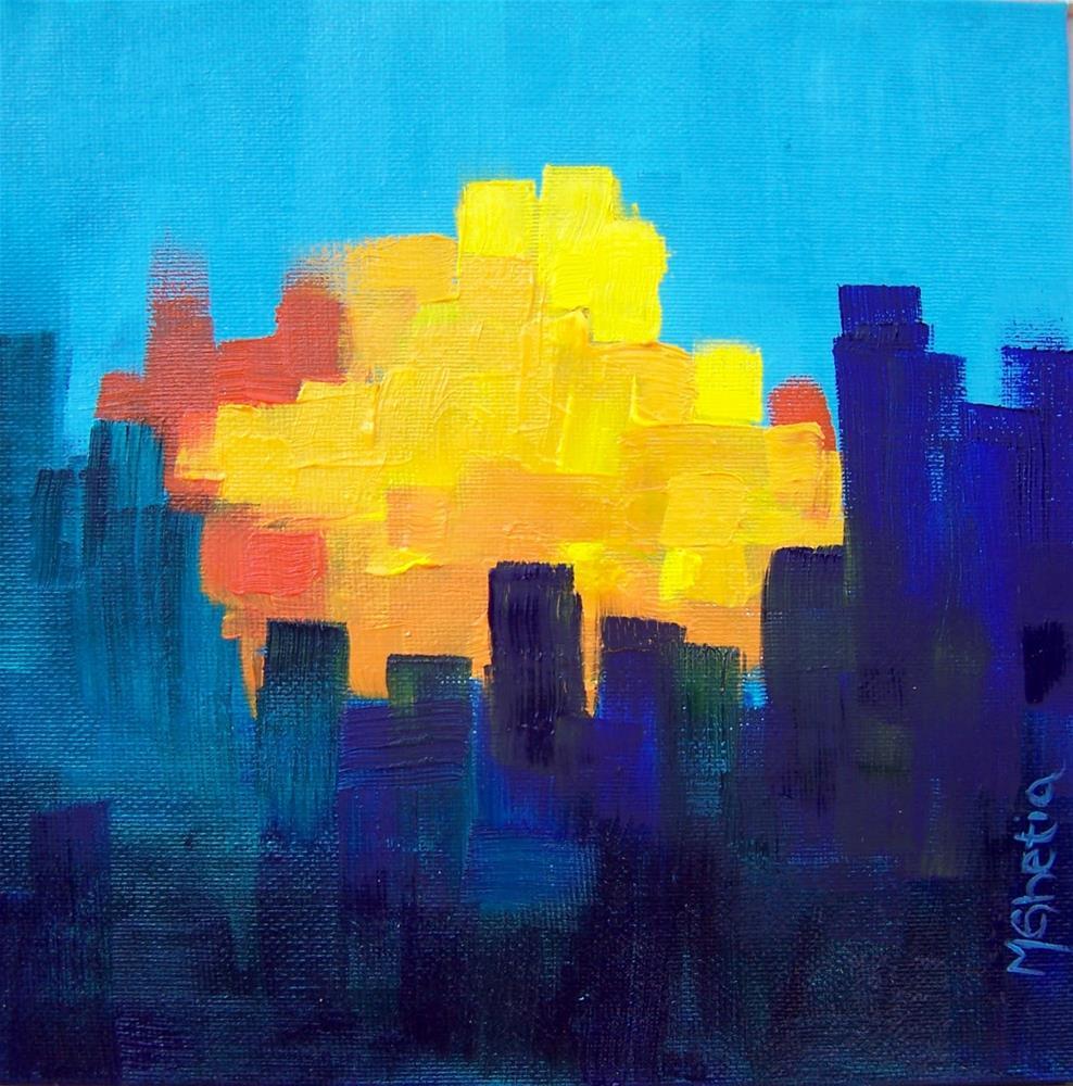 """Sunrise,Sunset"" original fine art by Maureen Ghetia"
