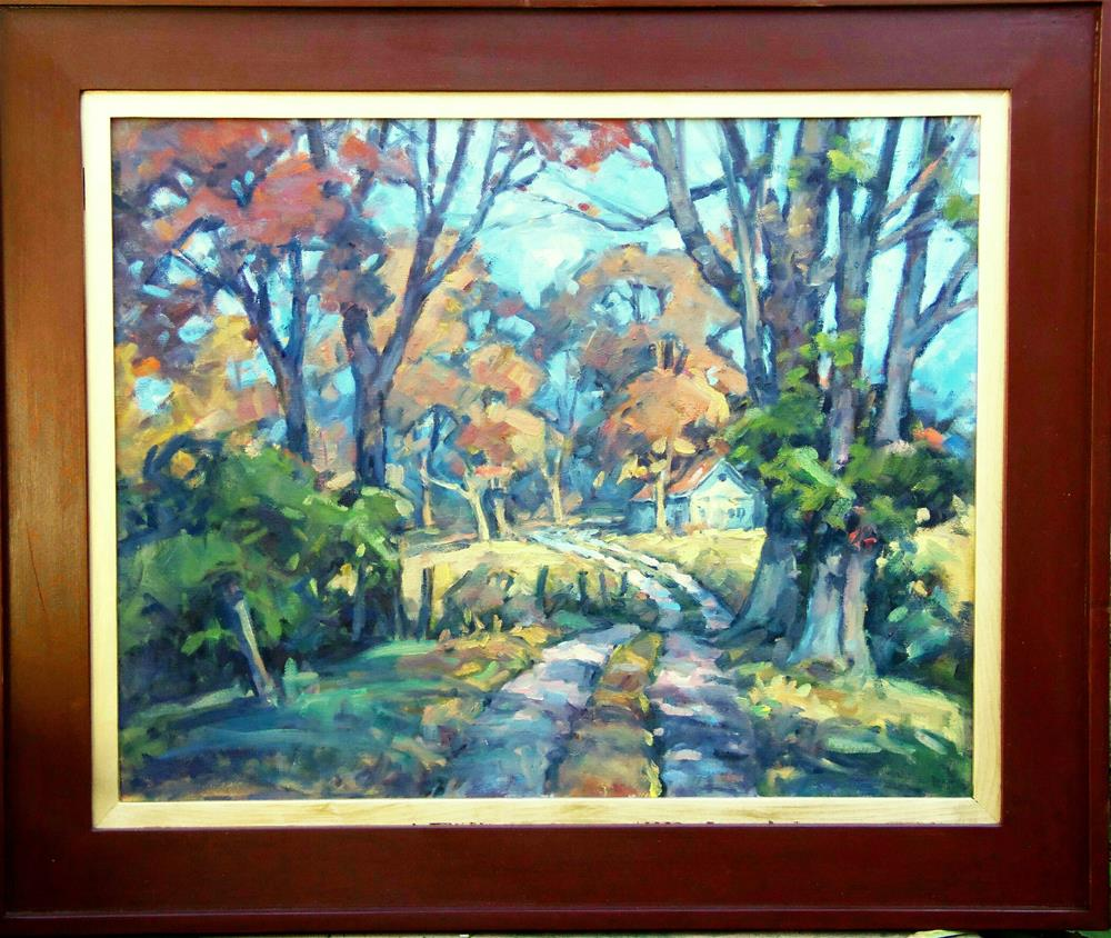 """Farm Lane"" original fine art by J Scott Wolf"