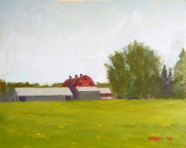 """Cohasset Farm"" original fine art by Weston Hobdy"