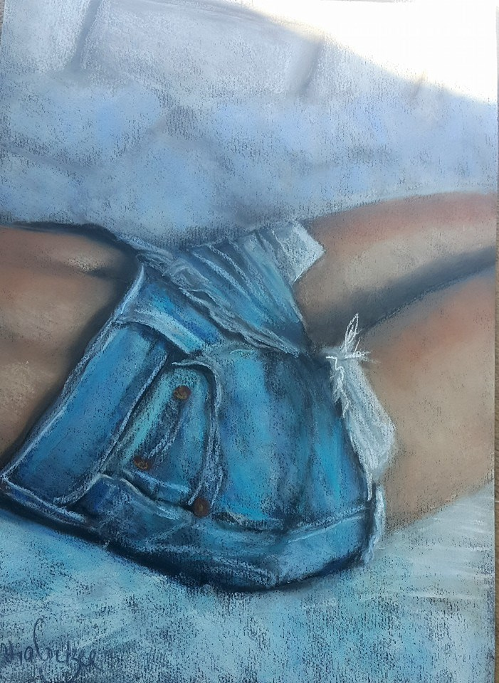"""Lazy summer"" original fine art by Rentia Coetzee"