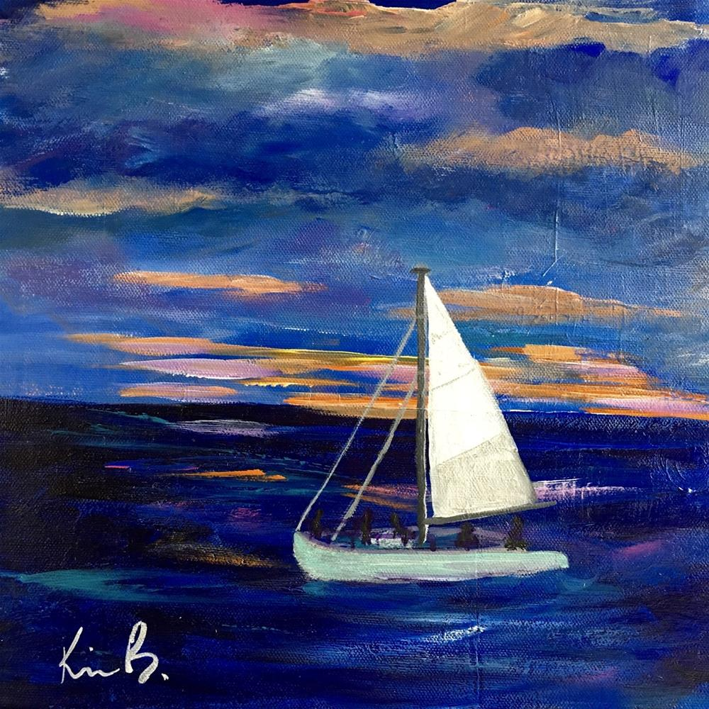 """Night Sail"" original fine art by Kimberly Balentine"