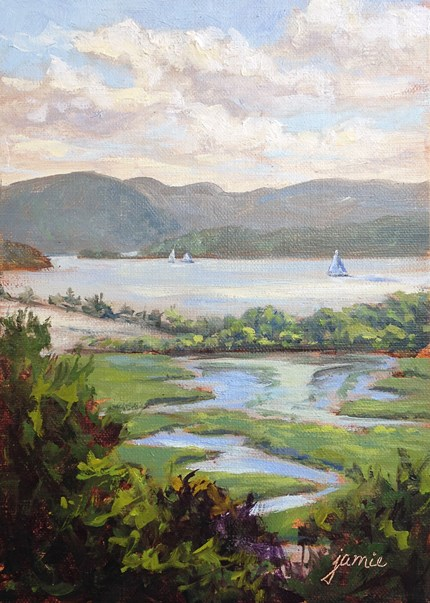 """Summer Journey on the Hudson"" original fine art by Jamie Williams Grossman"