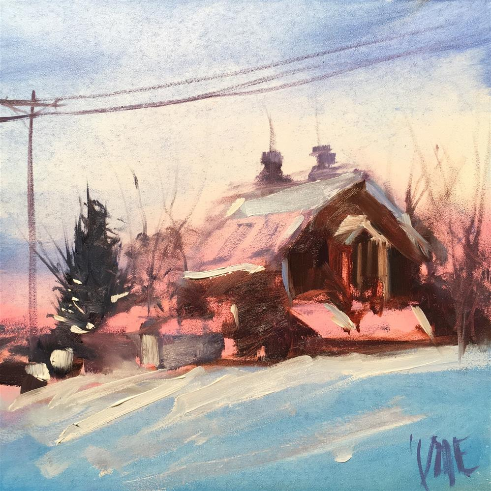 """#281 Winter Color"" original fine art by Patty Voje"