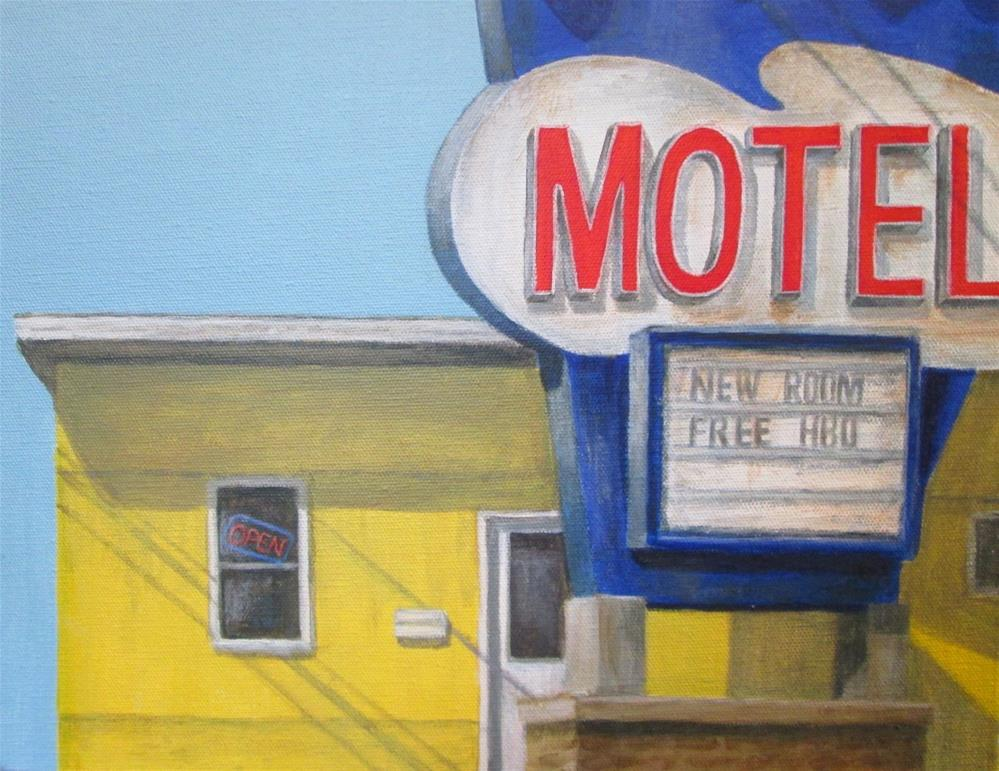 """Motel"" original fine art by Debbie Shirley"