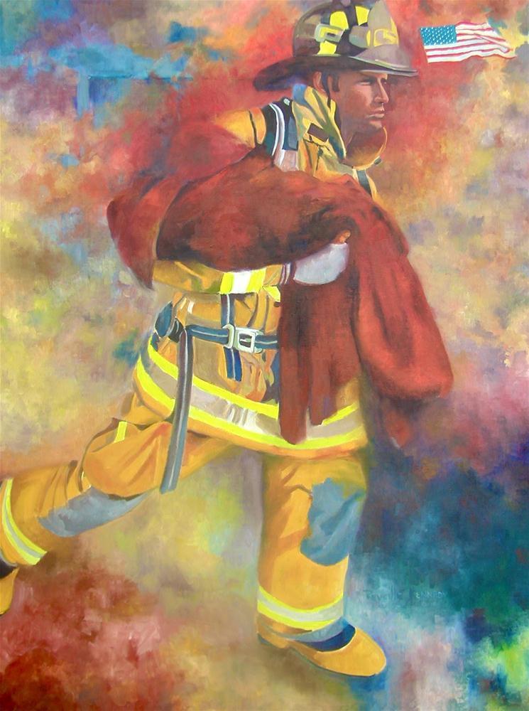 """American Hero"" original fine art by Reveille Kennedy"