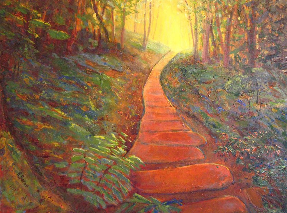 """Towards the Light"" original fine art by Robie Benve"