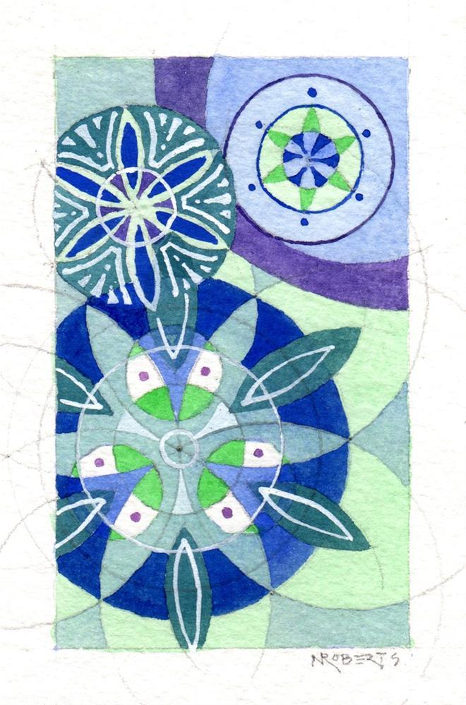 """Little Mandalas One"" original fine art by Nancy Roberts"