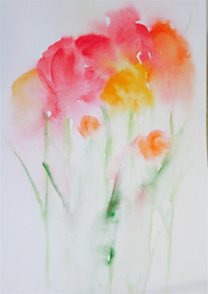 """Floral 088"" original fine art by Michelina Frey"