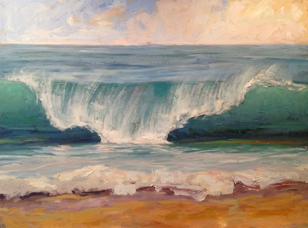 """Perfect Curl"" original fine art by Deborah Newman"