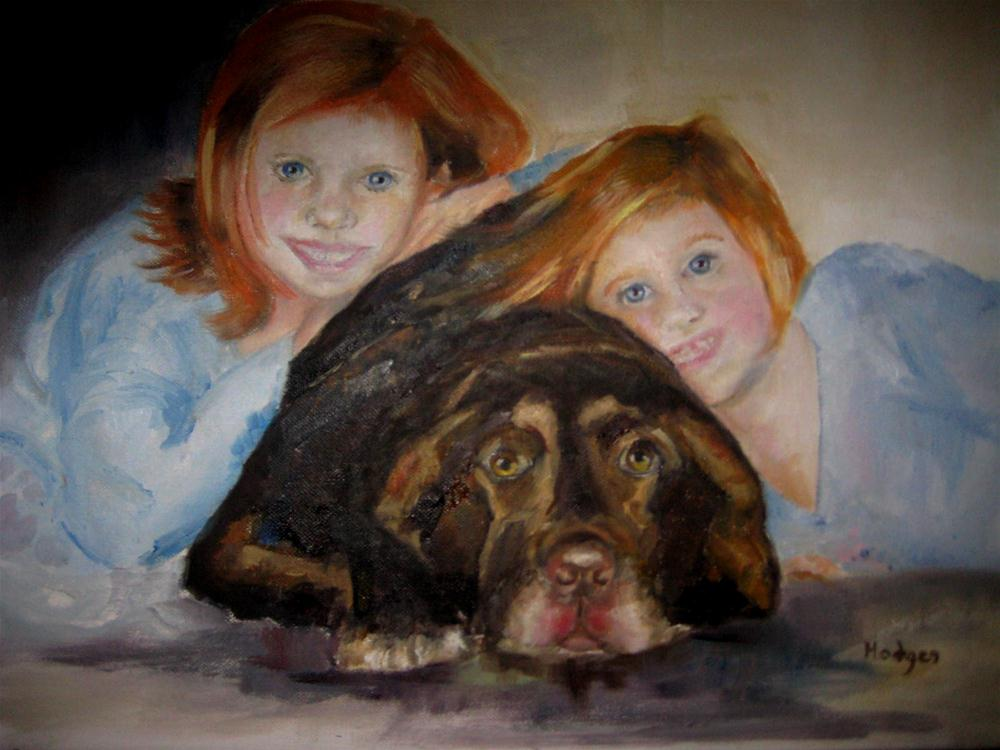 """Caroline and Grace Ann"" original fine art by Marcia Hodges"