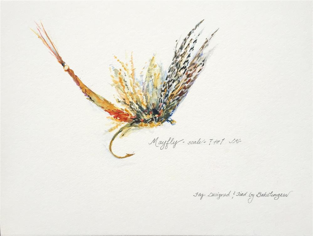 """Mayfly"" original fine art by Jean Krueger"