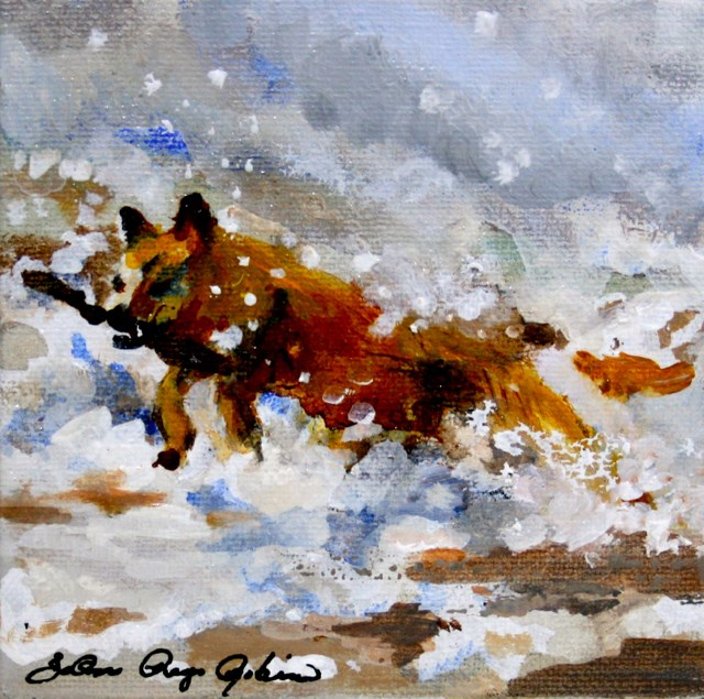 """It's All About the Stick"" original fine art by JoAnne Perez Robinson"