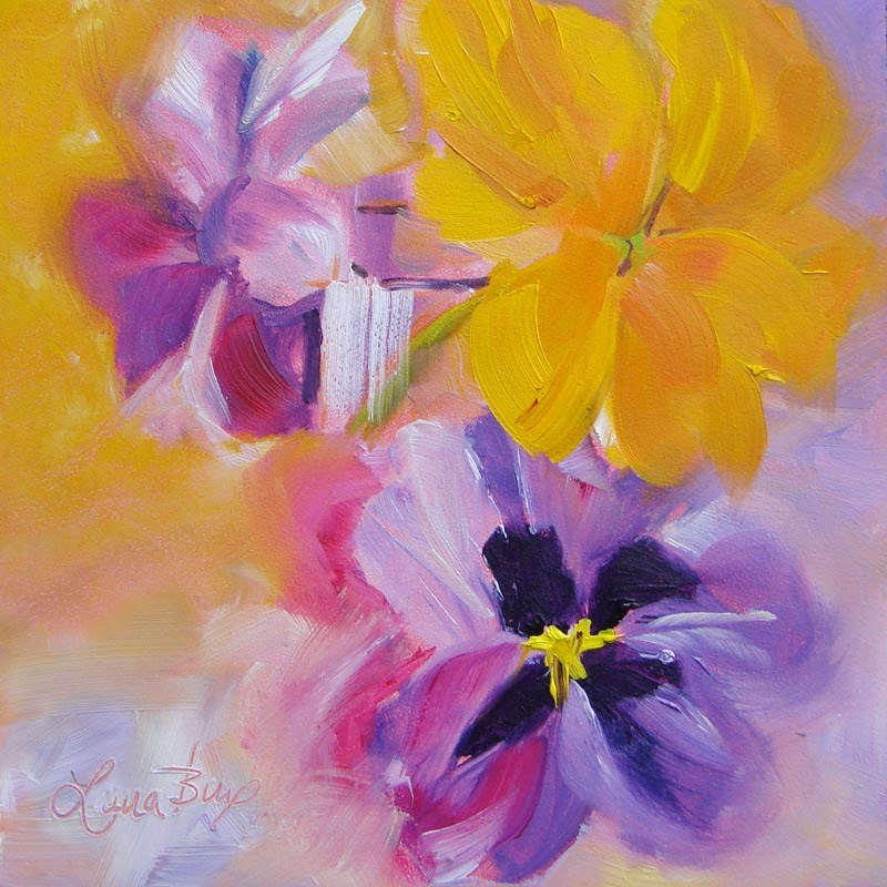 """Pretty Faces 184"" original fine art by Laura  Buxo"