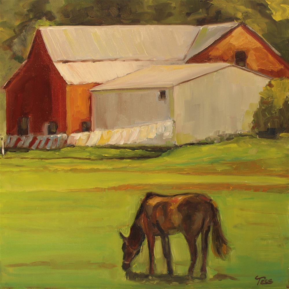 """Junior's Farm- Paul McCartney & Wings"" original fine art by Tess Lehman"