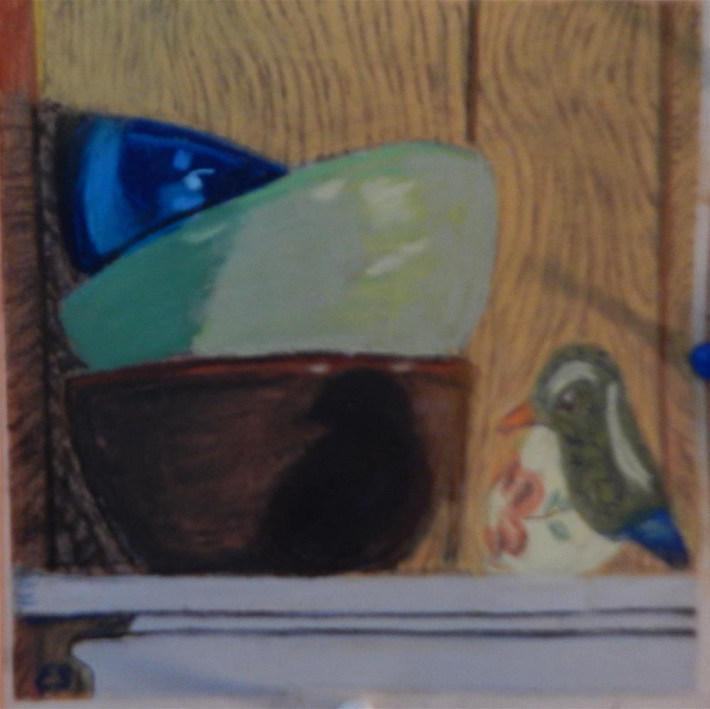 """Three Bowls"" original fine art by Elaine Shortall"