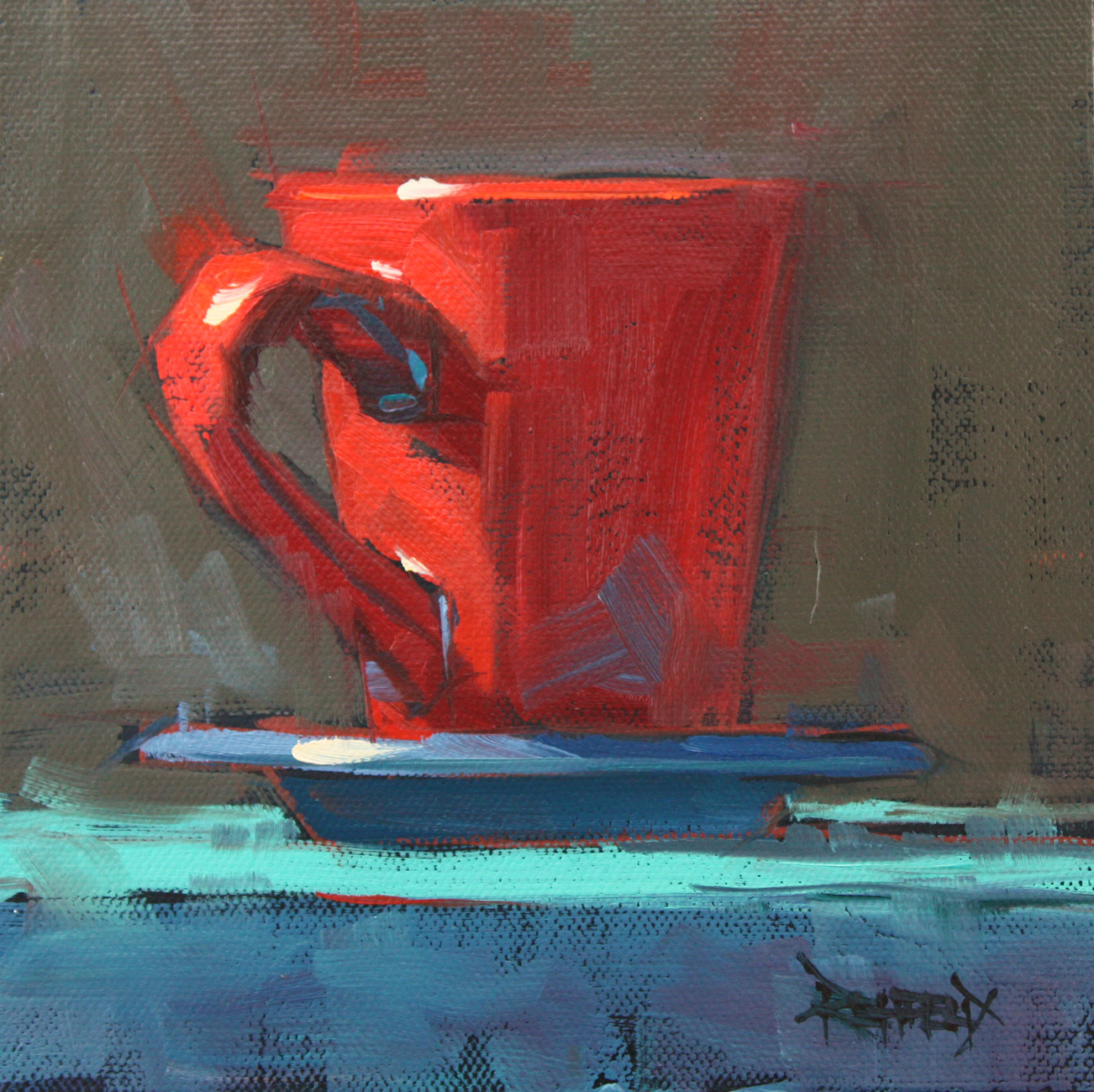 """Red Cup Fun"" original fine art by Cathleen Rehfeld"