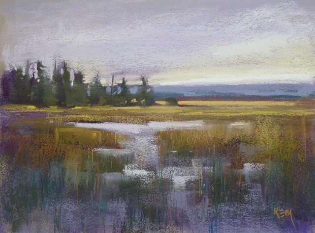 """Sunday Studio Live Demo: Choosing a Pastel Palette for a Marsh Painting"" original fine art by Karen Margulis"