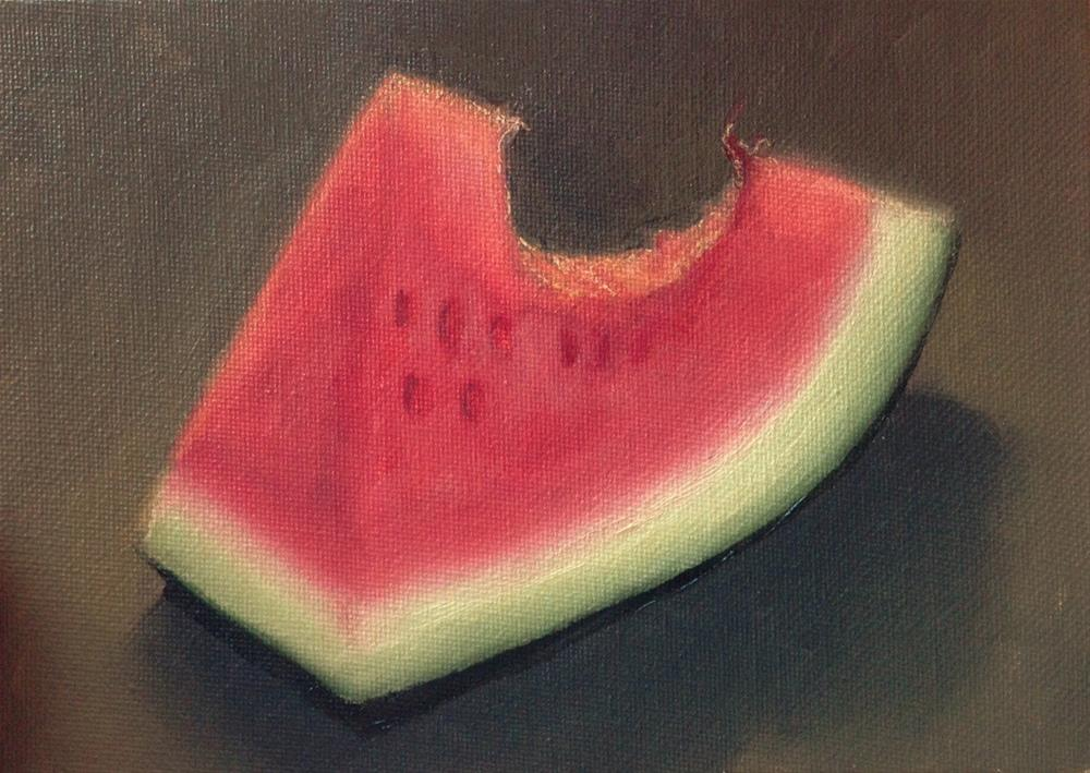 """Bite Size"" original fine art by Beth Moreau"