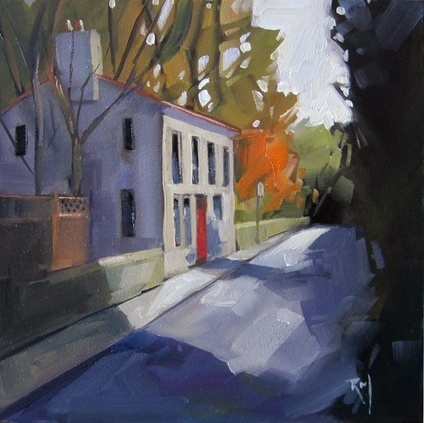"""No 793The Red Door House"" original fine art by Robin J Mitchell"