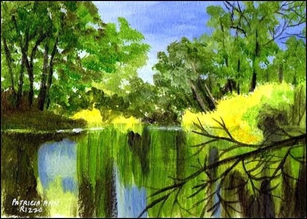 """Cool and Quiet"" original fine art by Patricia Ann Rizzo"