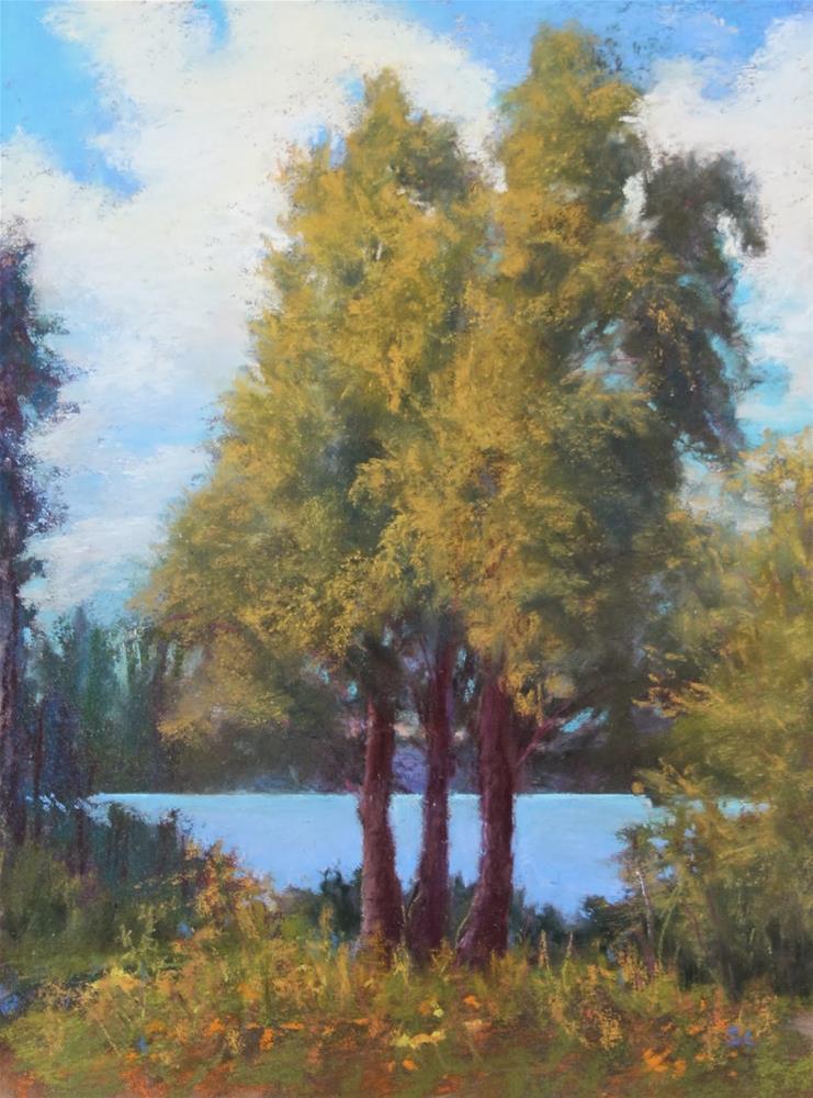 """Memories of Summer's Sun"" original fine art by Sharon Lewis"