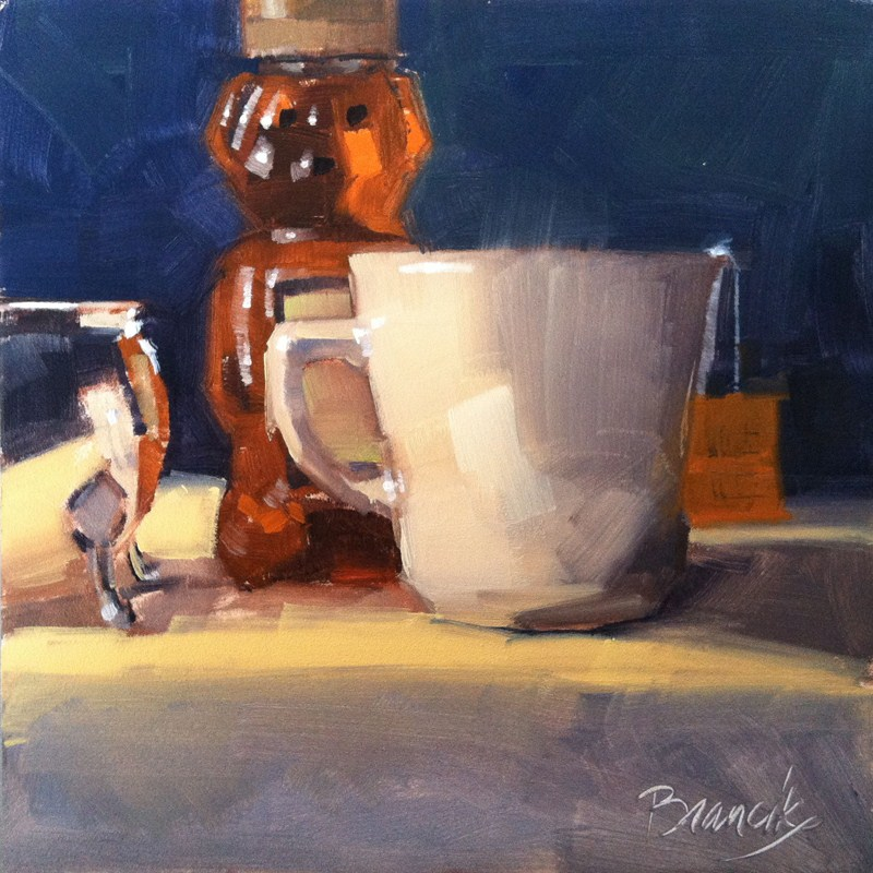 """Tea with Cream and Honey"" original fine art by Candace Brancik"