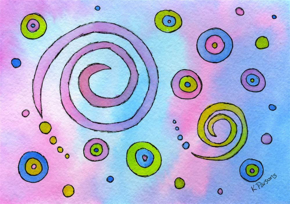 """Swirls and Circles"" original fine art by Kali Parsons"