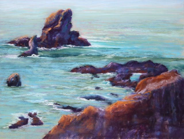 """Smooth Waters Ahead"" original fine art by Sharon Lewis"